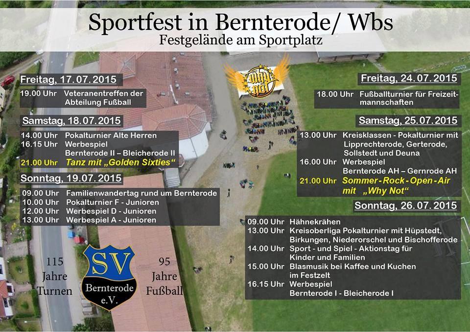 Veranstaltungsgelände Bernterode - Sommer Rock OpenAir 2015